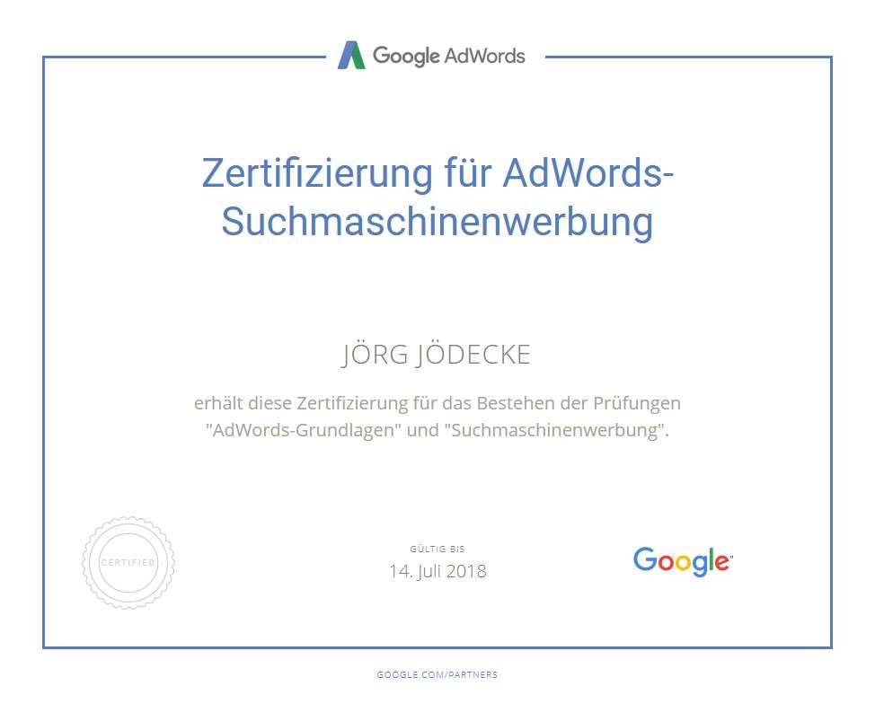 AdWords-Suchmaschinenwerbung