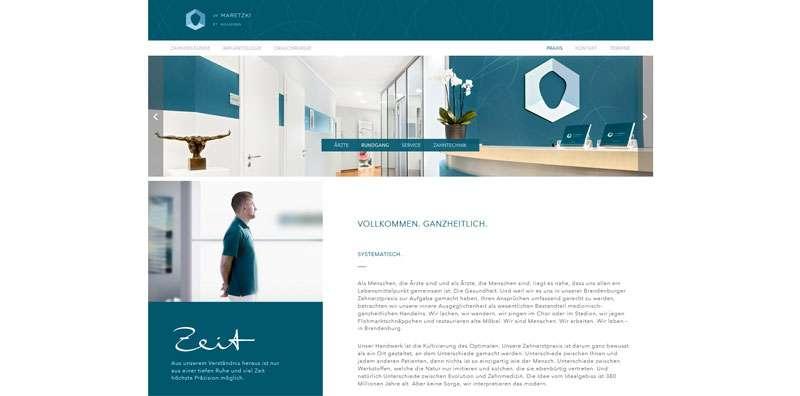 Homepageerstellung für Zahnärzte