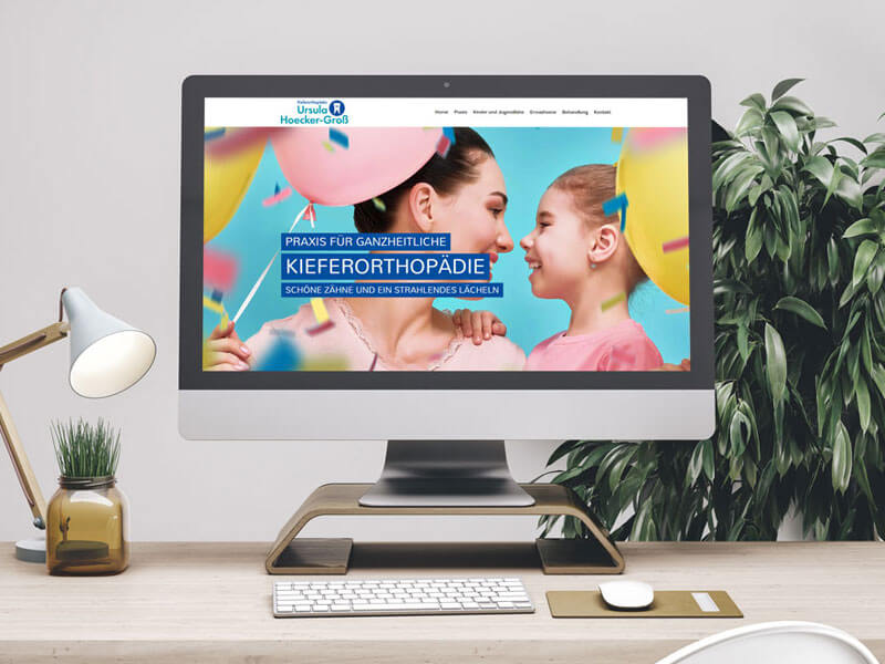 PC-Mockup Website, Praxis Hoecker-Groß